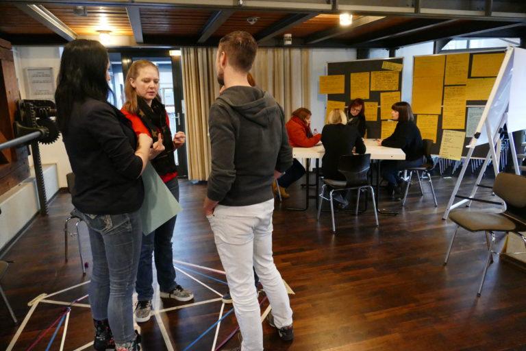 In Kleingruppen eine Aktivität entwerfen (EiP Training I, Wolfenbüttel, Januar 2019)
