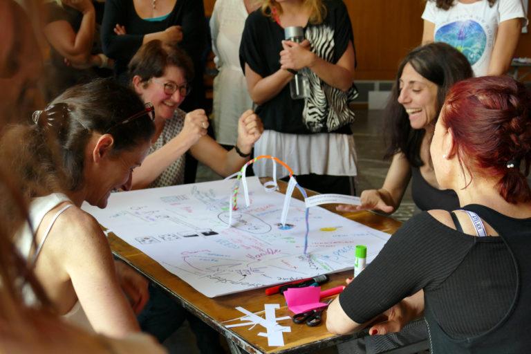 Die Diversitäts-Mindmap präsentieren (EiP Training III, Thessaloniki, Mai 2019)