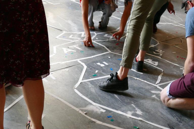 Mit farbigen Markierungen eine Europa-Karte der Emotionen entwickeln (EiP Training III, Thessaloniki, Mai 2019)