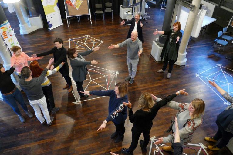 Dreiecke bilden, ohne dass die Anderen davon wissen (EiP Training I, Wolfenbüttel, Januar 2019)