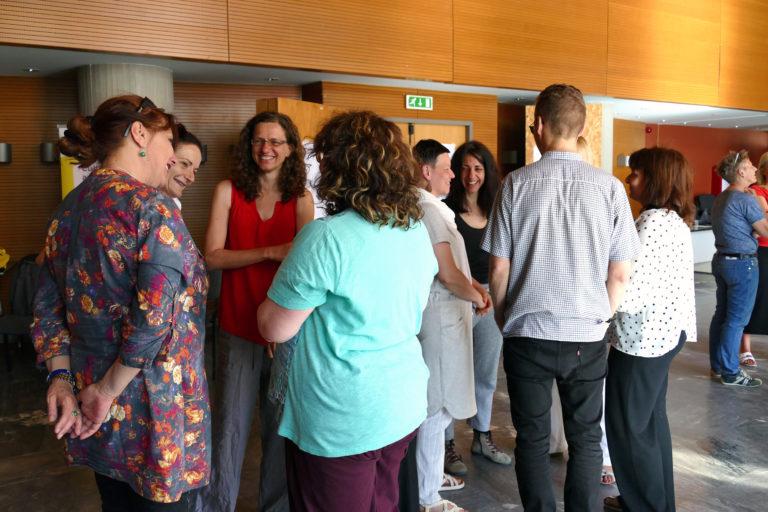Gruppen zur gegenseitigen Vorstellung bilden (EiP Training III, Thessaloniki, Mai 2019)